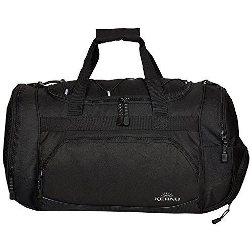 Keanu Durchdachte Sporttasche (50 x 29 x 28 cm - 45 Liter Fitness Yoga Sauna mit XL Getränkenetz :: Grosse multifunktionale Tasche für Gym Sport Sauna Reise Wellness :: Reisetasche