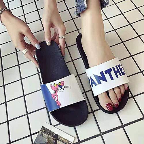 YYFF Planas Caminar Ortopedicas Zapatos,Lindas Sandalias,Chanclas en casa-Leopardo Blanco_38 / 39,Sandalias Hombre