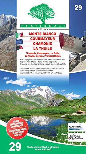 Carta n. 29. Monte Bianco, Courmayeur, La Thuile, Chamonix 1:25.000