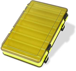 King wow Fishing Lure Box Double Sided Tackle Storage Trays Fishing Tackle Storage 14 Compartment Waterproof Visible Plastic Box Fishing Tackle Container