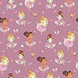 Hans-Textil-Shop Stoff Meterware Ballerinas Jersey - 1