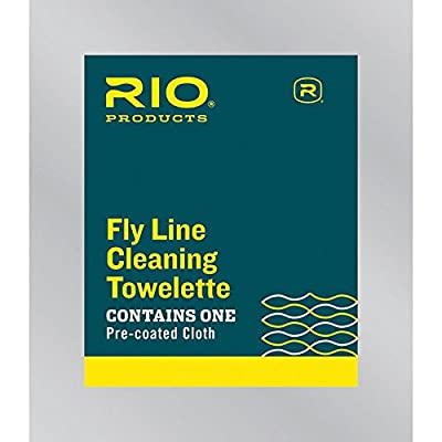 Rio Fly Fishing 50Count Top Off Bag Fly Line Cleaning Towlette, White