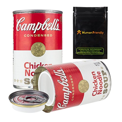 Campbells Soup Diversion Segura Stash Container puede 10oz W humanfriendly smell-proof bolsa