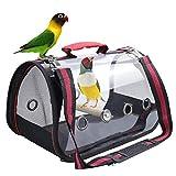 Bolsa portadora de loros, portátil, para viajes al aire libre, ligera, cubierta transparente, fácil de limpiar, espacio espacial, cápsula de pájaros, bolsa de hombro (grande)
