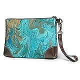 MGBWAPS Rock Texture Clutch, bolso de embrague de cuero, bolso cosmético, bolso de embrague pulseras, (Como se muestra), Talla única