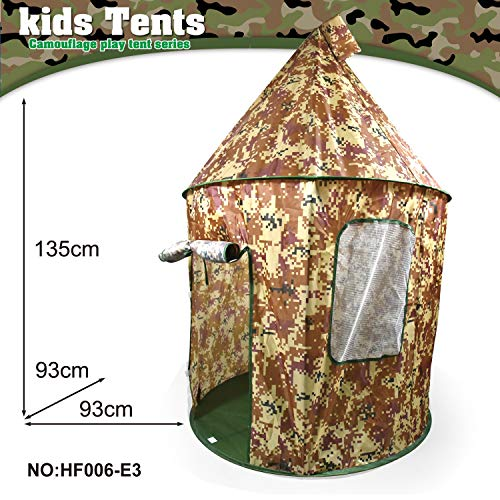 OPNIGHDYMD Kids Teepee Tent, Girls' or Boys' Play Tent, Children's yurt indoor and outdoor game house (Color : I)