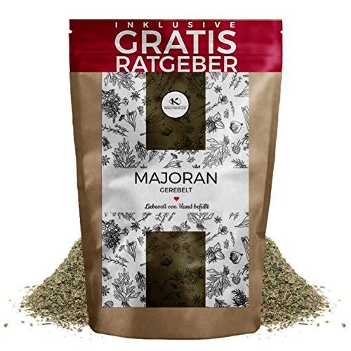 Majoran getrocknet & gerebelt 250g I Gerebelter Majoran aus Ägypten inkl. gratis Ratgeber I hochwertiges Majoran-Gewürz natürlich intensiver Geschmack