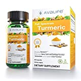 Avalife Full Spectrum Turmeric - High Potency Natural Antioxidants Curcumin Supplements for Men & Women - 60 Capsules