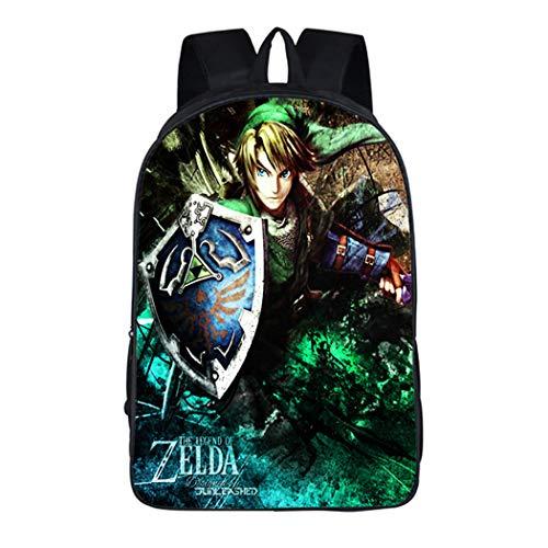 WANHONGYUE The Legend of Zelda Juego Imagen Estudiante Mochila de la Escuela Bolsas Escolar Bolsa de Ocio Viaje Backpack /12