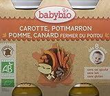Babybio Petit Pot Carotte Potimarron Pomme/Canard Fermier du Poitou BIO 8+ Mois 2*200...