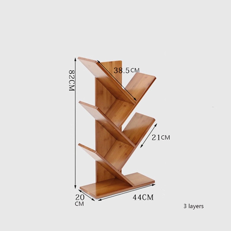 gran descuento Sexy 2 3 4 5 6-tier Natural Simple Bamboo Bamboo Bamboo Bookcase Study Office Escritorio de Estudiantes Pequeña Librería Landing Tree Creativity Bookshelf Marrón (Tamaño   80cm)  te hará satisfecho
