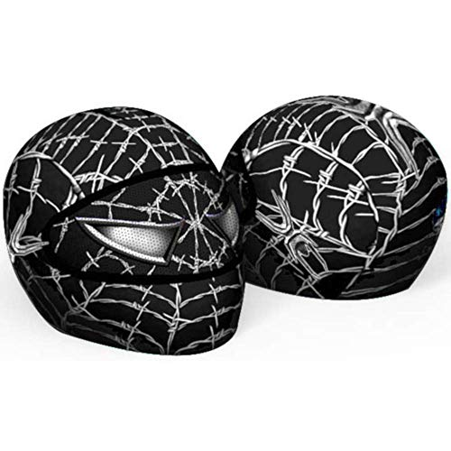 Venom Motorcycle Helmet Cover AND Visor Sticker Decal Wired Web Black
