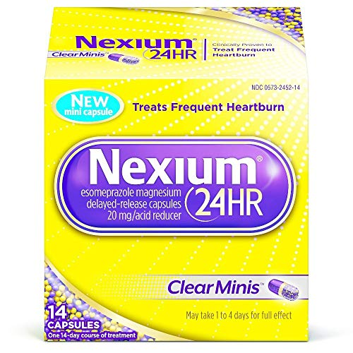 Nexium 24HR Capsules Clear Minis - 14 ct, Pack of 3
