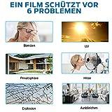 X-Solutions | UV-Schutz Sonnenschutzfolie Fenster innen | Spiegelfolie Selbstklebend | Selbsthaftend, Silber reflektierende Fensterfolie | Selbstklebende Sichtschutz, Sonnenschutz Folie | 45 x 200 cm - 4