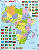 Larsen K13 Politische Karte Afrikas, Deutsch Ausgabe, Rahmenpuzzle mit 70 Teilen