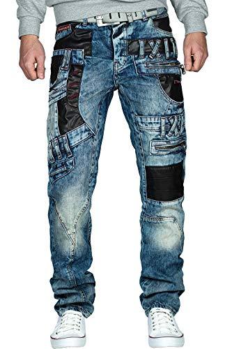 Cipo & Baxx Herren Jeans CD482-bans Blau W32/L32