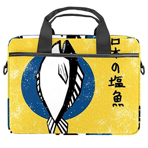 13.4'-14.5' Laptop Case Notebook Cover Business Daily Use or Travel Japanese Fish