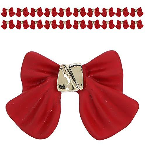 Chiwe Arcos para decoración de uñas, Hermosos Arcos para decoración de uñas para teléfonos móviles para Guitarras para Zapatos para Manualidades(Red)