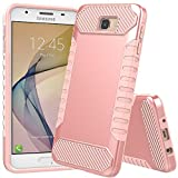 JDBRUIAN Galaxy On5 2016 Case,Galaxy J5 Prime Case, [Shock Absorption] Hybrid Dual Layer Armor Protective Case Cover for Samsung Galaxy On5 2016/J5 Prime/G570 - Rose Gold