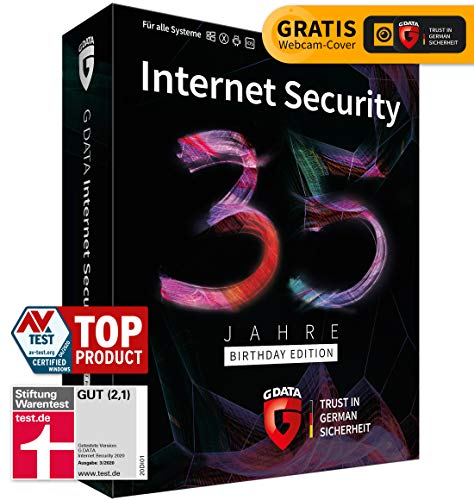 G DATA Internet Security - 35 Jahre Sonderedition: 5 Geräte, 1 Jahr - Box inkl. DVD & Webcam-Cover | Für PC/Mac/Android/iOS