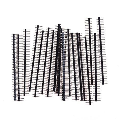40Pin 2.54mm Enkele rij Rechte Mannelijke Pin Header Connector Strip Voor Arduin 1x40 Rij 20 Stks