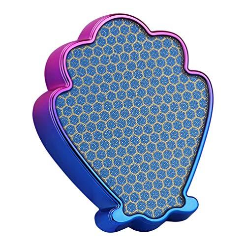 Healifty 1 Pc Remover Peau Morte Nano Verre Portable Coque Forme Pieds Fichiers Épurateur Remover Callus Remover Pour Soins De La Peau Exfoliant