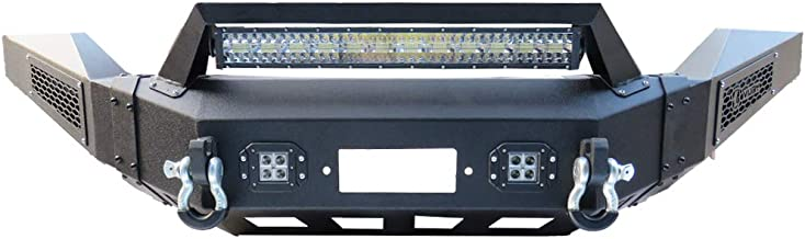 Hunter Dodge Black Textured Front Bumper Black Texture with 4×18W and 1× 144W LED Lights for 13-18 Dodge RAM 1500 …