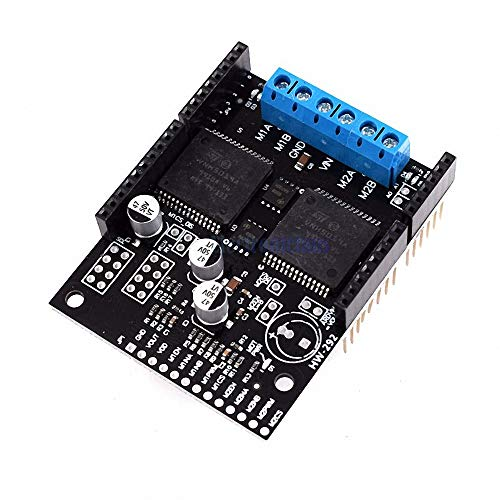 VNH5019 30A Dual High Power DC Motor Driver Shield Board Module High Current Voltage Protection for Arduino VNH2SP30 Upgrade