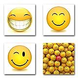 Smiley - Set B schwebend, 4-teiliges Bilder-Set je Teil