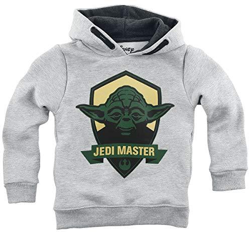 Star Wars Jedi Master Unisexe Sweat-Shirt à Capuche Gris chiné 164