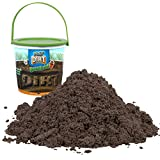 Play Dirt Bucket (3 Lb) - Unique Kinetic Dirt-Like Sand for Burying and Digging Fun by Sands Alive