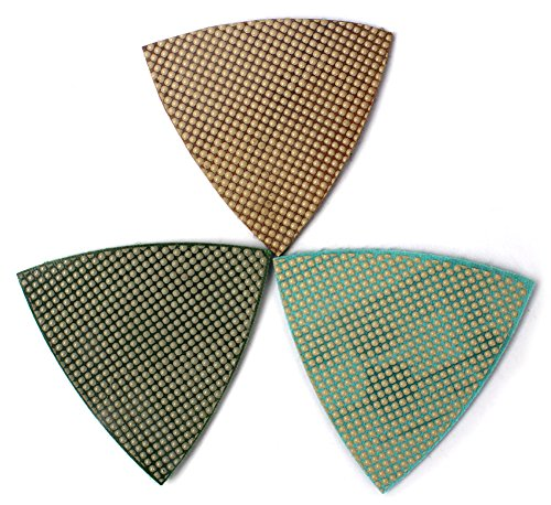 Diamond Triangle Sandpaper Sanding Pads for Oscillating Tools Marble Granite Glass Stone Polishing by Z-LION