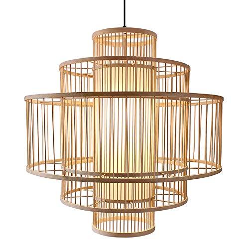 CSSYKV Lámpara De Bambú De Estilo Chino, Lámpara De Arte De Bambú, Lámpara De Jardín Estadounidense, Lámpara De Ingeniería De Hotel, Lámpara De Techo De Restaurante Japonés, Accesorios De Iluminación