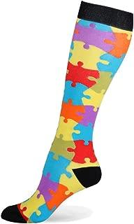 HLTPRO Compression Socks for Women & Men - Knee High Socks for Running, Flight, Travel, Nurses, Pregnancy, Edema