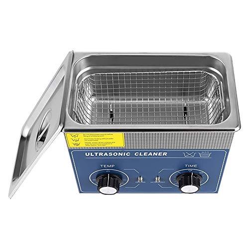 Vanities Limpiador ultrasónico con Cesta, Limpiador ultrasónico Digital Limpiador ultrasónico Limpieza de Equipos Limpiador ultrasónico Fabricado en Acero Inoxidable para Laboratorios, 3L