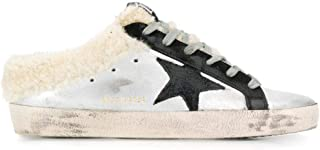 GOLDEN GOOSE Women's G35WS962A5 Silver Leather Sneakers