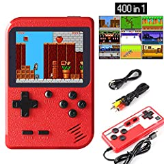 【400 Super Classic Games】The game console has nostalgic unique 400 FC games, the game can be played without repetition, take you back to the fun of childhood. 【Support 2 Players&Play on TV】A gamepad is included in the package to connect to the little...