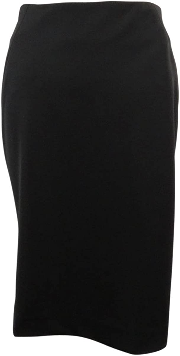 Bar III Straight Knee Length Pencil Skirt Black