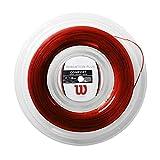 Wilson Sensation Plus, WR830050117 Bobina di Corda per Racchette da Tennis, Calibro 17 (1.28mm), Rosso