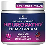 Neuropathy Cream - Maximum Strength Nerve Relief Cream for Feet, Hands, Legs- 4 OZ Large - Made in USA