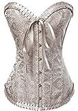 Alivila.Y Fashion Lace Corset 2001 with G-String-Cream-S
