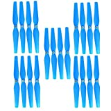 Fytoo Airplane Accessories 20pcs Propellers for Syma X8 X8C X8W X8G RC Quadrocopter Drone Propeller Fan Blade Main Blade X8C-05-06 Spare Parts (Blue)