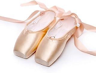 Ballet kanten schoenen satijn/canvas professionele dansschoenen ballerina's met opgenaaide banden voor dames meisjes (kies...