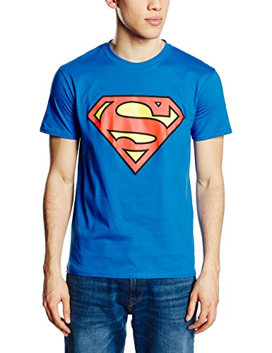 DC Comics Superman Logo Camiseta, Azul Royal, L para Hombre