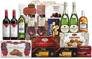 Lote Regalo Cesta de Navidad 2019 Gourmet - Regalo Personal o de Empresa como Agradecimiento Navideño. Incluye Opcionalmente Dedicatoria Personalizada (Lote 04)