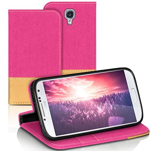United Case Custodia Portafoglio per Samsung Galaxy S4 Mini   Rosa   Pelle e Chiusura