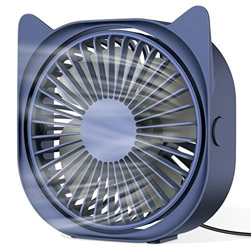 HAPAW USB Desk Fan, Portable Mini Desk Fan 3 Speeds 360? Rotation USB Fan for Home and Office Laptop Notebook PC Desk Table Fan