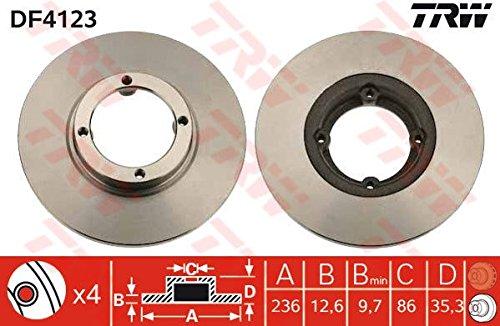 2x TRW Disque de frein VORNE pour CHEVROLET MATIZ M200, M250
