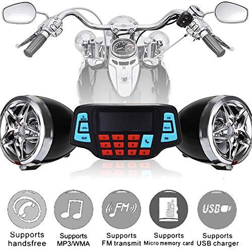 farmer-W MP3 Bluetooth Player for Motorcycle 12V Radio Speaker ATV Alarm