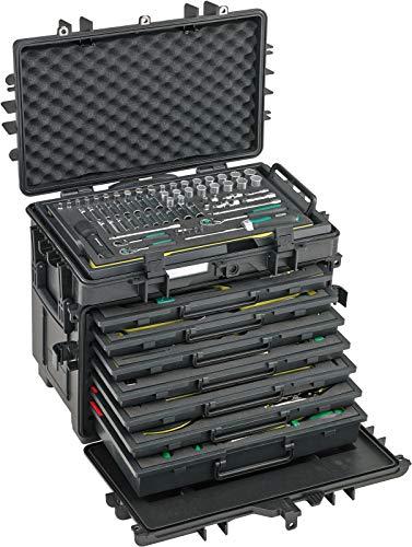 STAHLWILLE Nr. 13221 WT/TS Werkzeugsortiment für Flugzeuge (AOG-Kit) im Trolley aus Polypropylen. extrem robust, 8 Werkzeugeinlagen 163tlg.